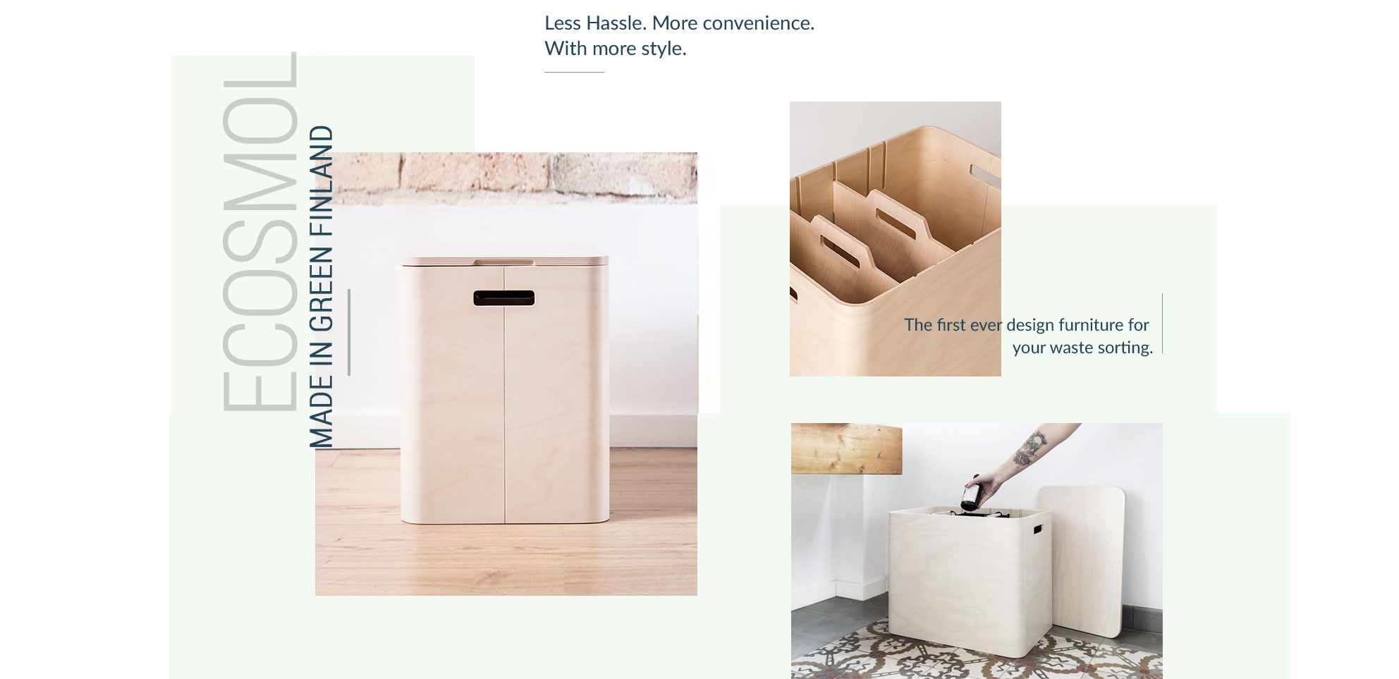 More info about Ecosmol, a modern recycling bin made in Finland