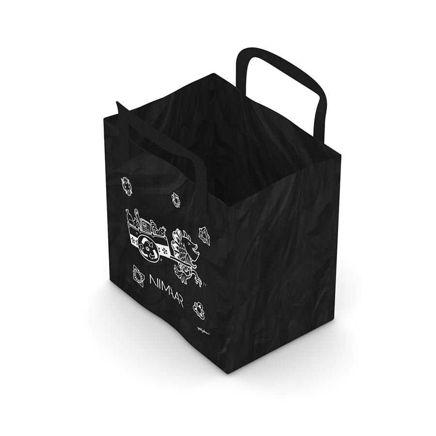 Niimaar Recycling Bag With Yoshi Sislay Ilration