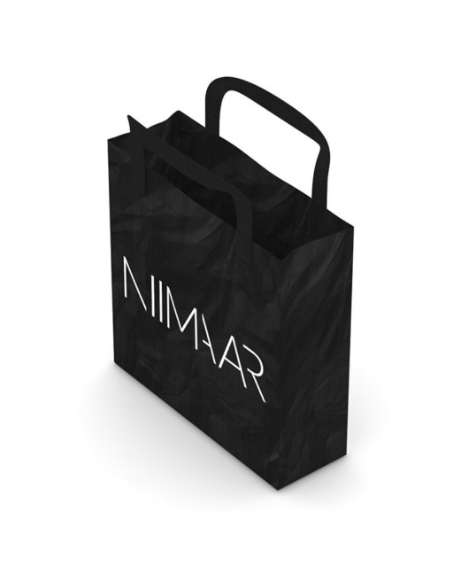 Black recycling bag with Niimaar logo